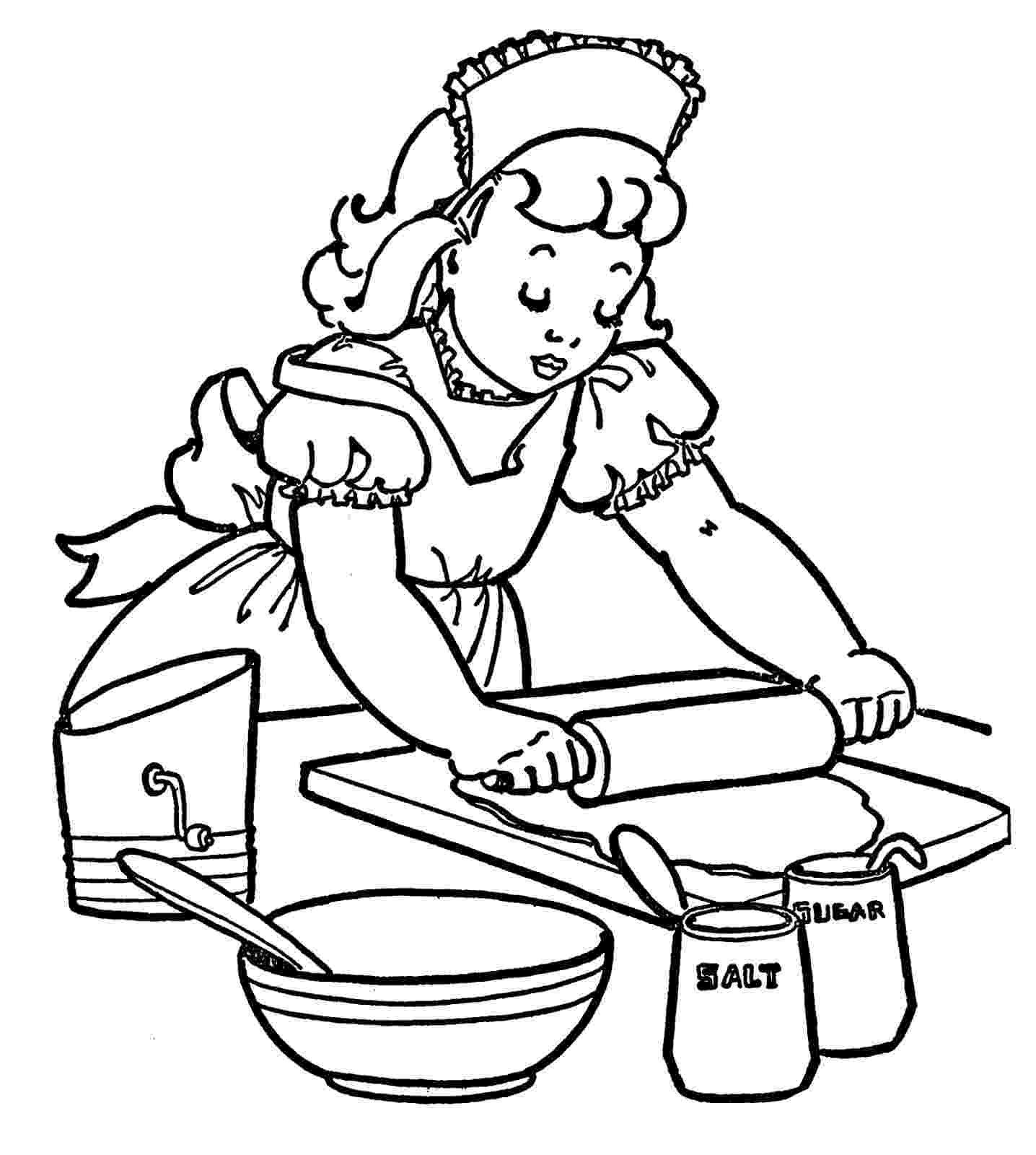 baking coloring pages baking with professor inkling coloring page free baking pages coloring