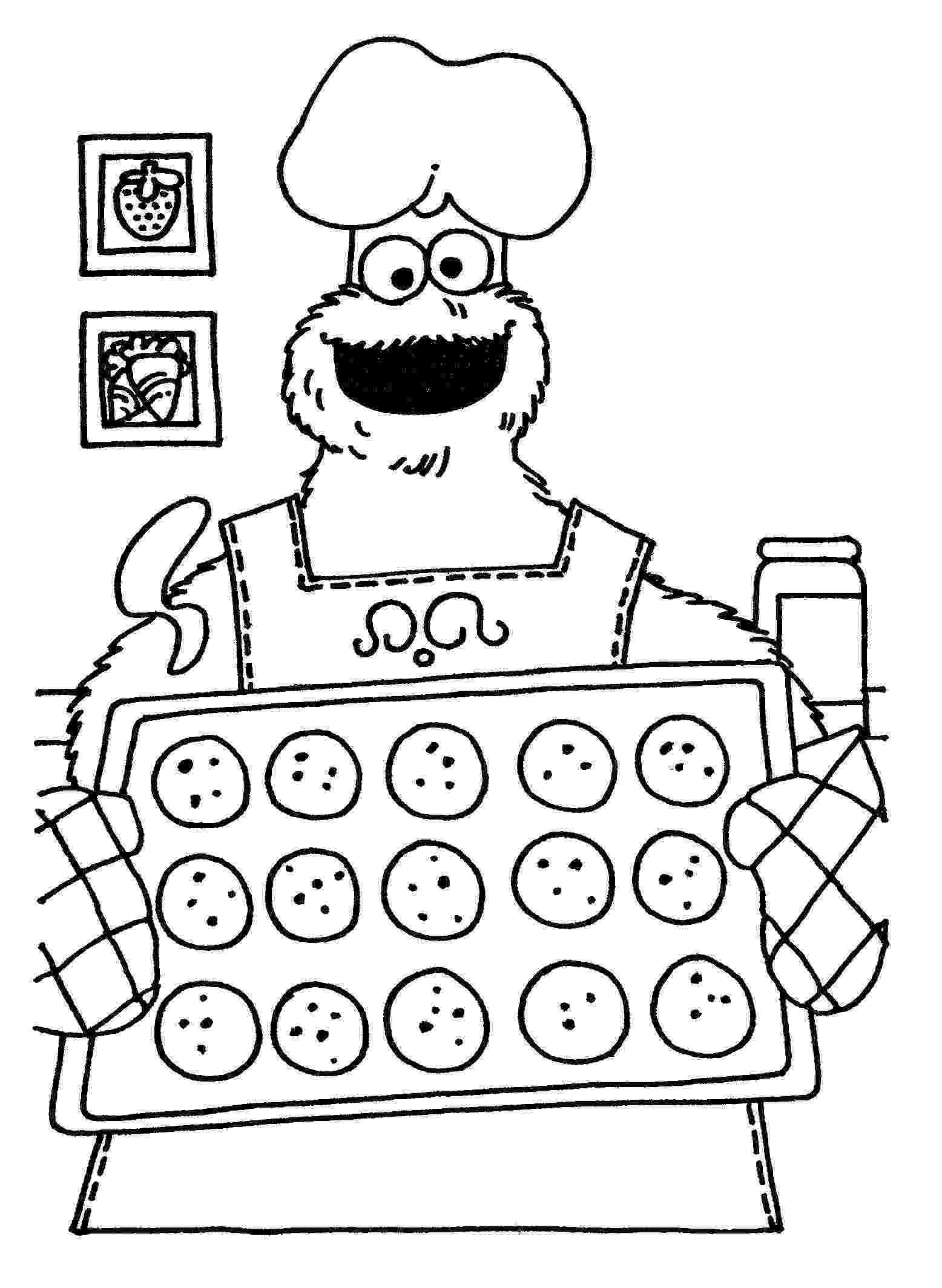baking coloring pages cookie monster baking coloring pages monster pages baking coloring