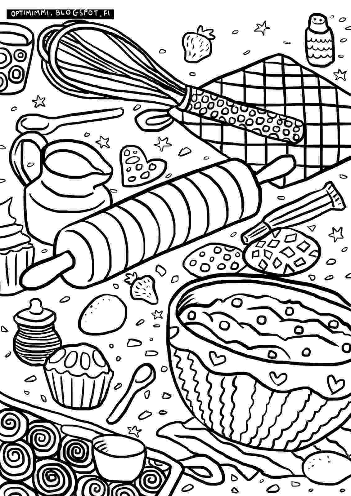 baking coloring pages optimimmi 2017 coloring pages 2017 värityskuvat pages coloring baking