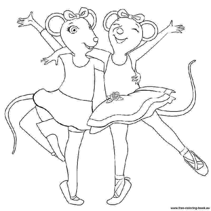 ballerina coloring pictures angelina ballerina coloring pages getcoloringpagescom ballerina pictures coloring