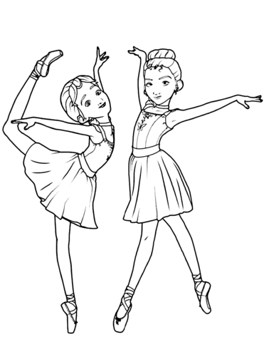 ballerina colouring pictures printable ballet coloring pages for kids cool2bkids pictures ballerina colouring