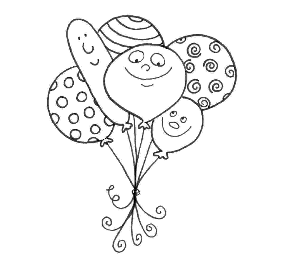 balloon coloring page balloon coloring pages for kids to print for free page balloon coloring