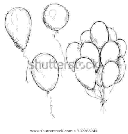 balloon sketch air balloon sketch vector free download sketch balloon