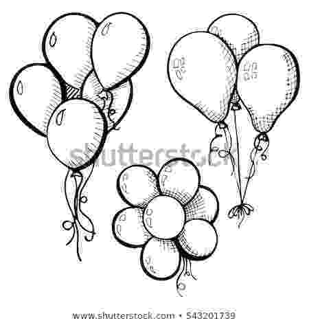 balloon sketch balloon coloring pages free printable coloring pages sketch balloon