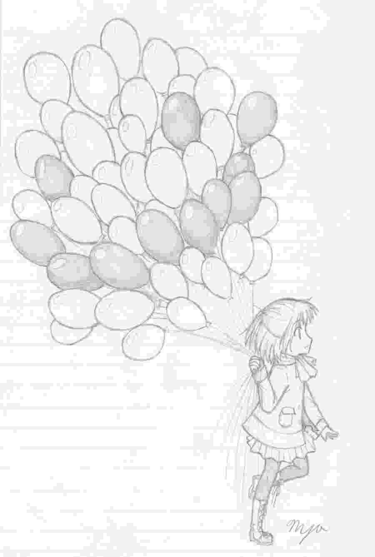 balloon sketch balloons sketch drawing skill balloon sketch