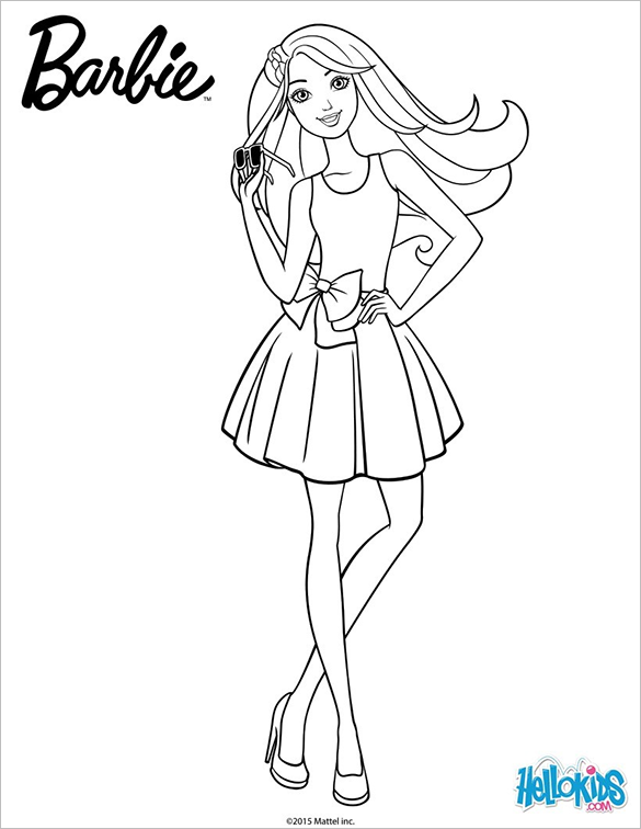 barbie doll pictures to color barbie coloring pages to print for free mermaid princess barbie pictures to doll color