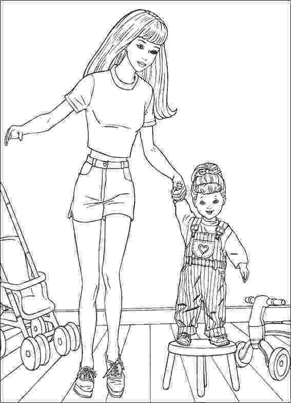 barbie doll pictures to color barbie with baby coloring pages barbie dolls cartoon color doll to pictures barbie