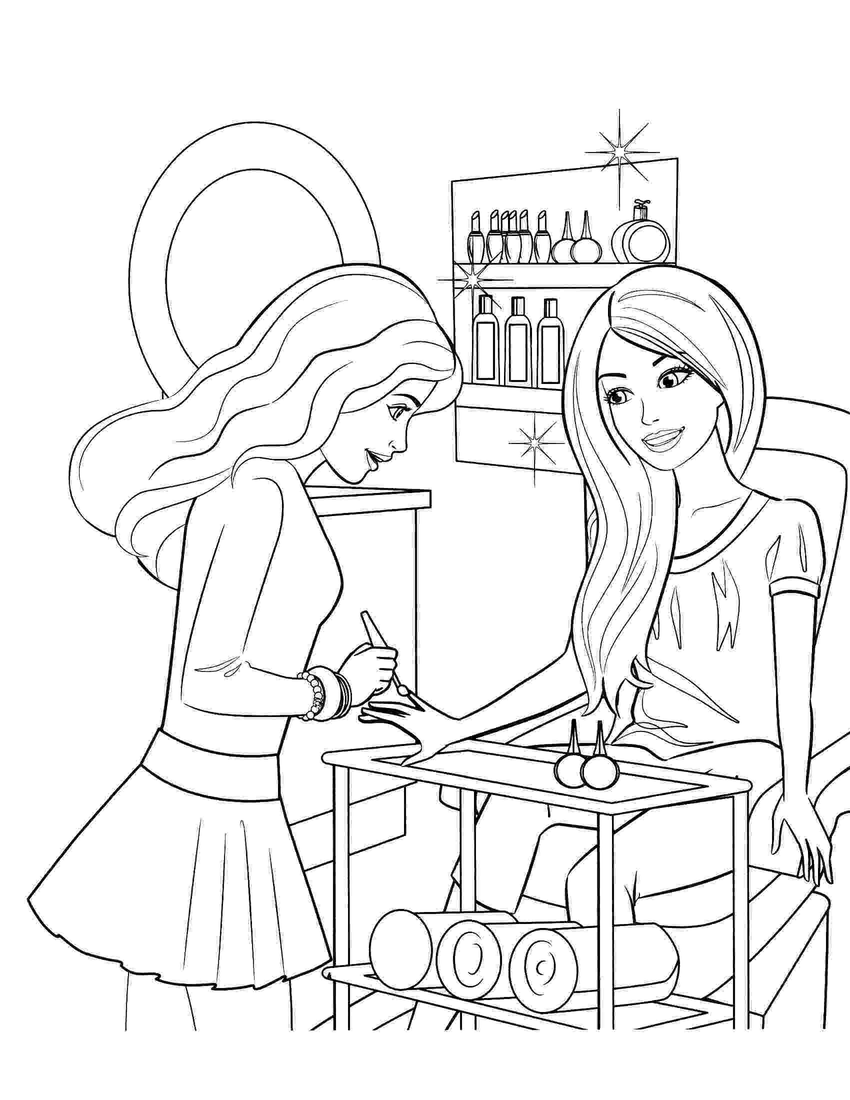 barbie doll pictures to color free printable barbie coloring pages for kids barbie barbie color pictures doll to