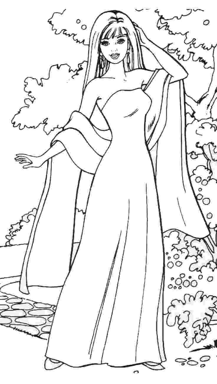 barbie doll pictures to color free printable barbie coloring pages for kids doll pictures to color barbie