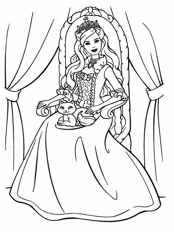 barbie princess coloring book free printable barbie coloring pages for kids barbie coloring book princess