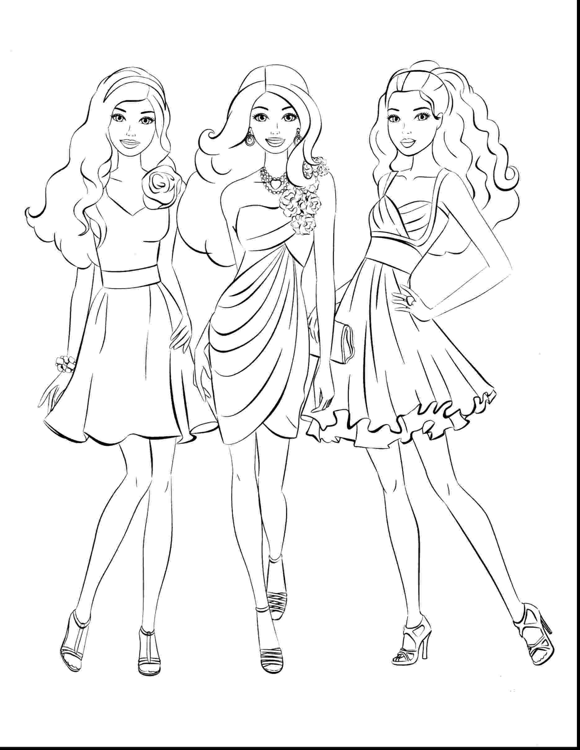 barbie print out coloring pages barbie and friends coloring pages getcoloringpagescom pages coloring print out barbie