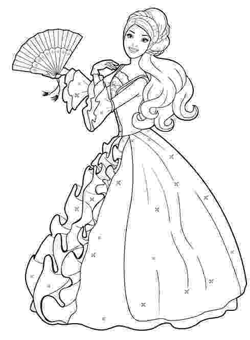 barbie print out coloring pages free printable barbie coloring pages activity sheets coloring barbie out print pages
