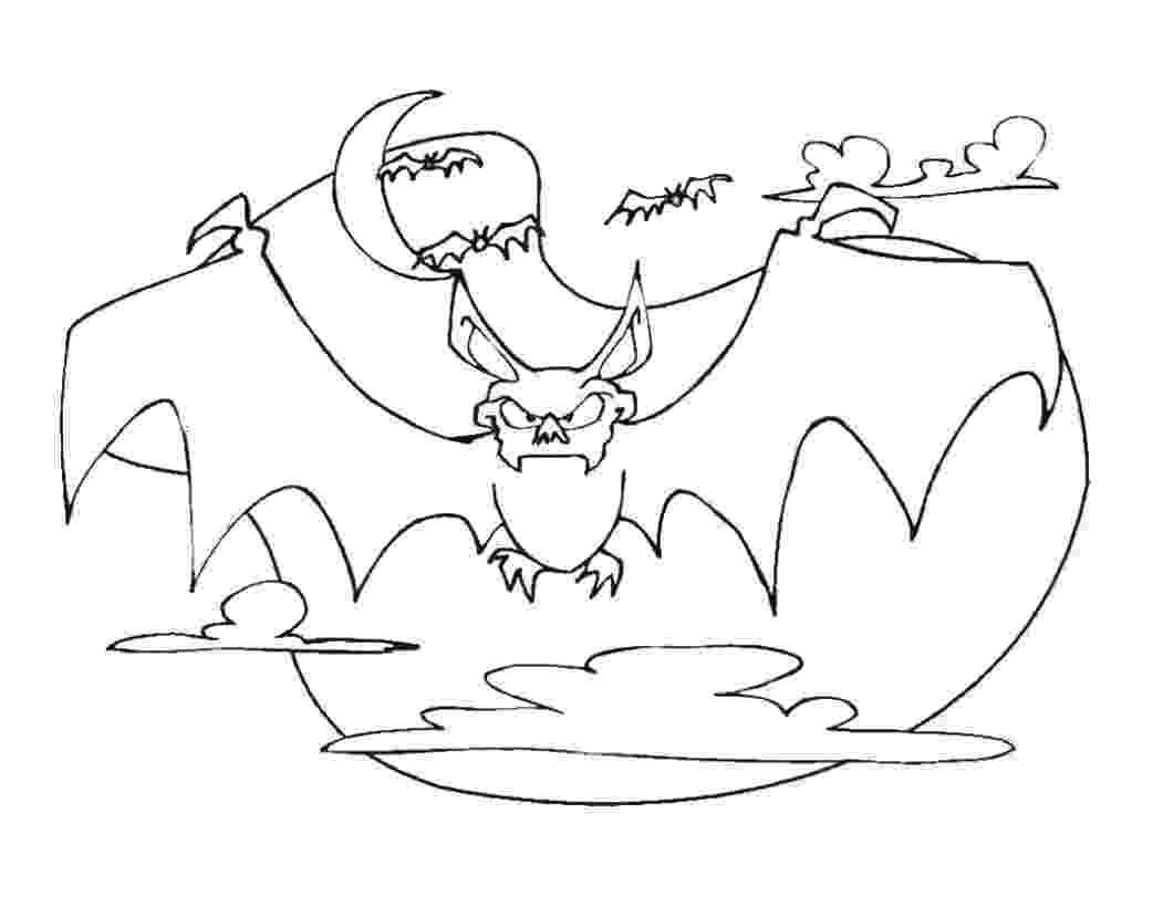 bat color page free printable bat coloring pages for kids page bat color 1 1