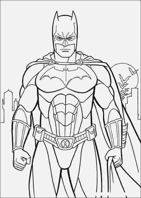 batman color page batman super hero cartoon coloring pages batman color page