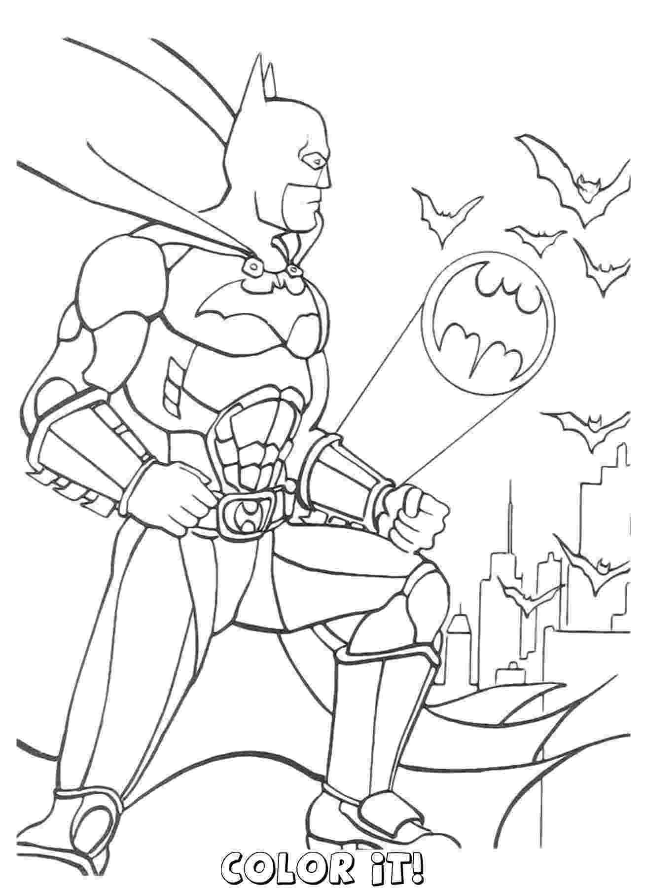 batman color page coloring town batman color page