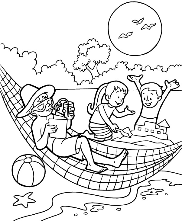 beach coloring page beach coloring pages beach scenes activities coloring beach page