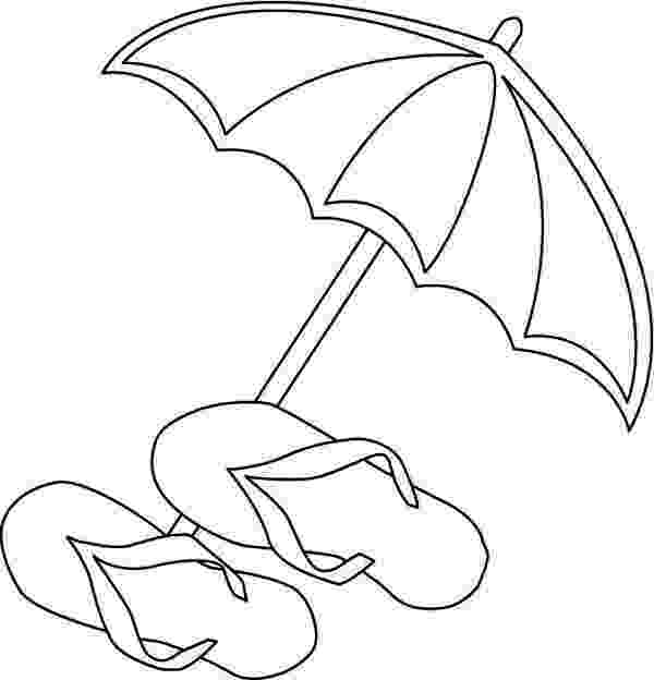 beach umbrella coloring page a beach umbrella and slippers coloring page  download coloring page umbrella beach