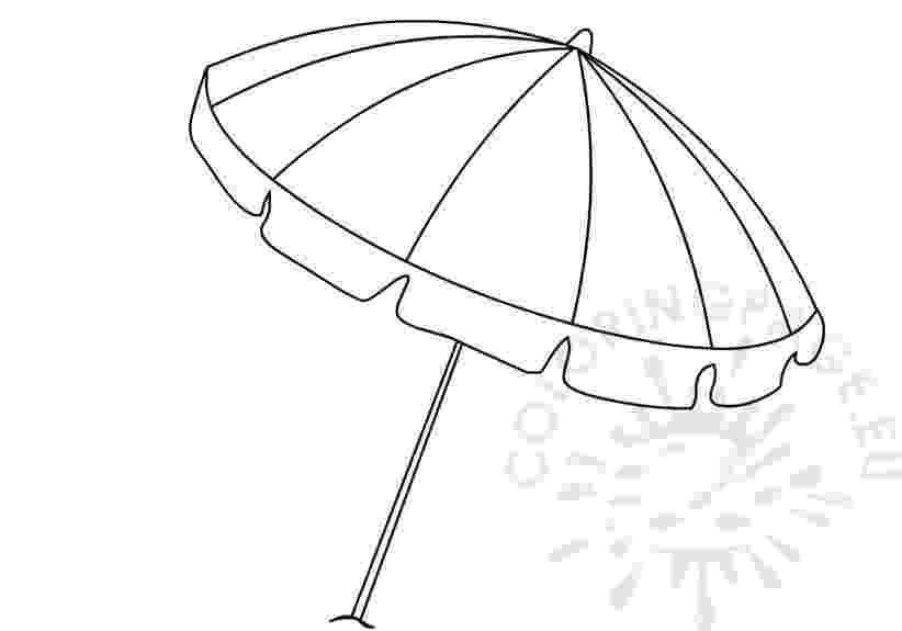 beach umbrella coloring page beach coloring pages  free printable outline pictures umbrella page beach coloring