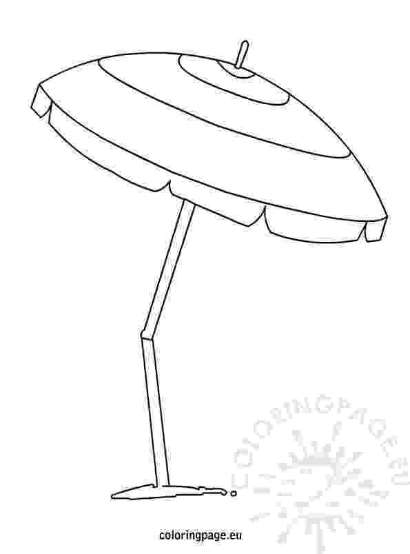 beach umbrella coloring page silhouette umbrella at getdrawingscom free for personal page umbrella beach coloring