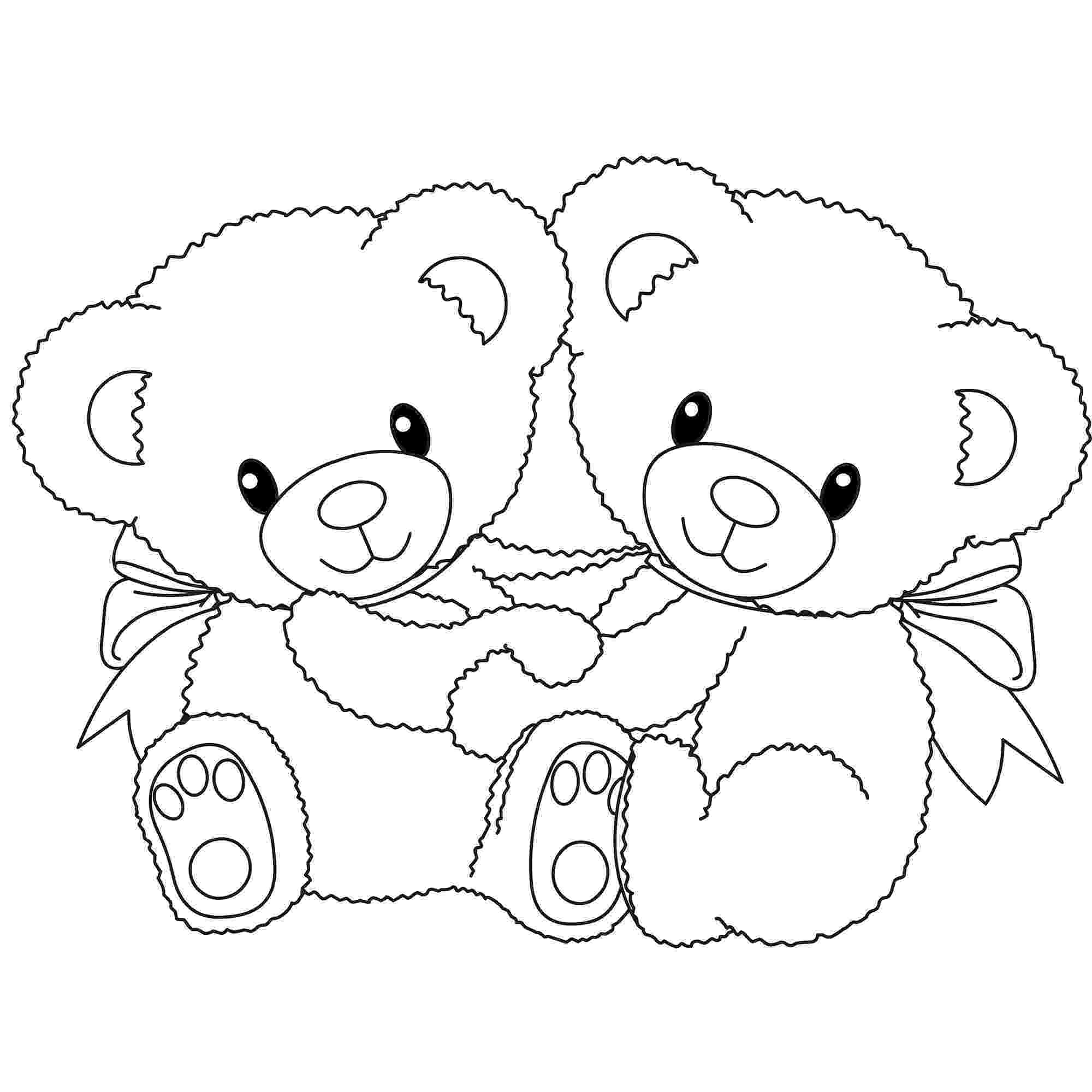 bear with heart coloring pages of teddy bears with hearts for preschoolers bear with heart