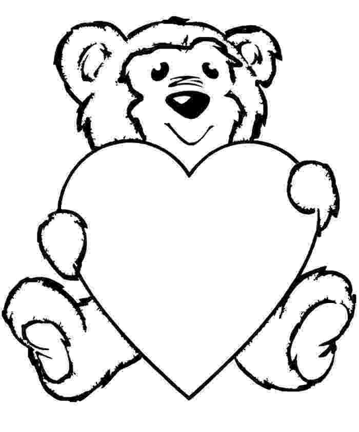 bear with heart teddy bear with heart coloring pages teddy bear holding a with heart bear