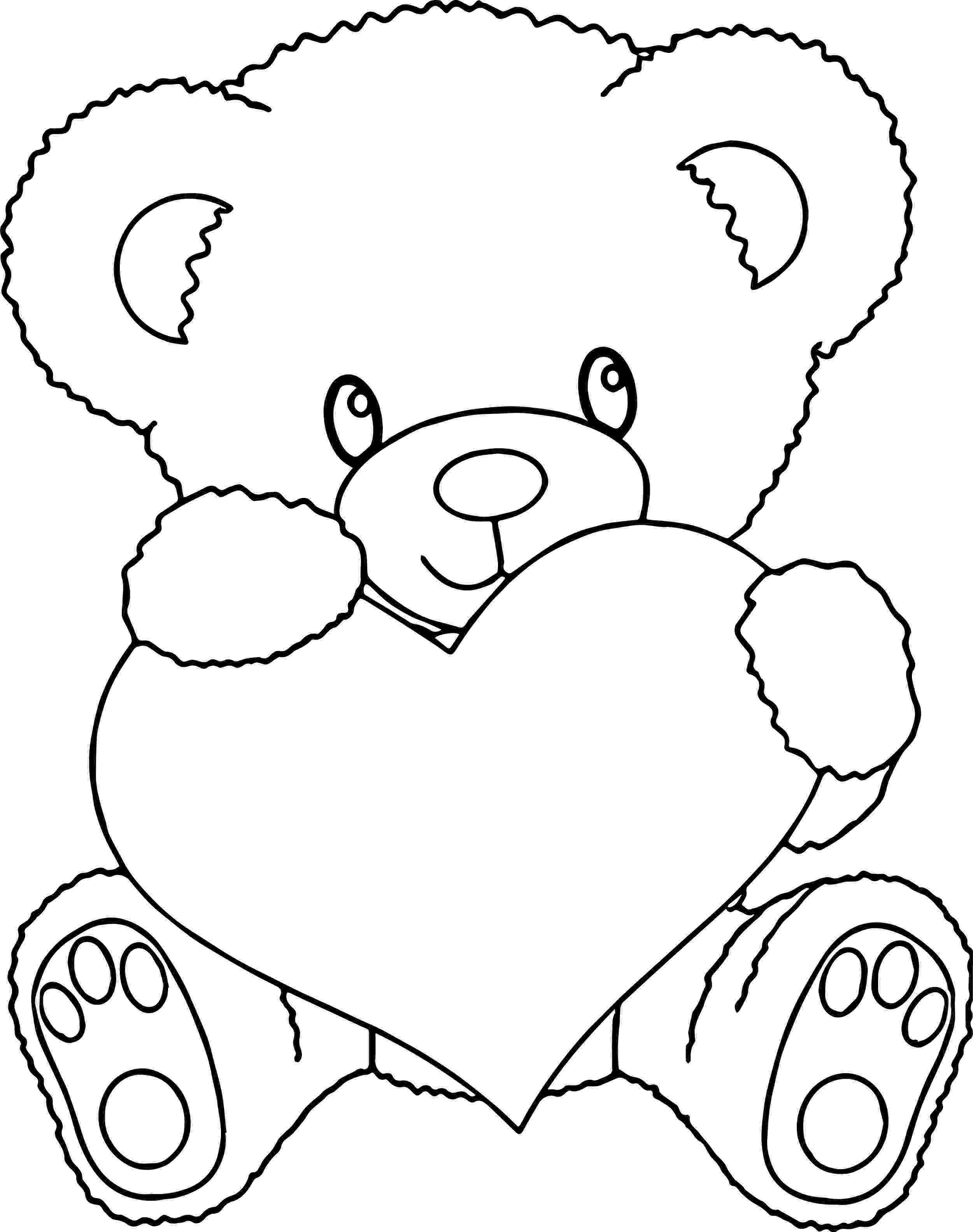 bear with heart valentine39s day coloring pages cupid with bow heart bear with