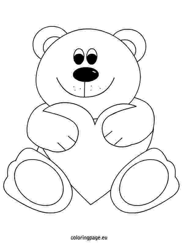 bear with heart valentine39s day coloring pages koala bear with heart bear with heart