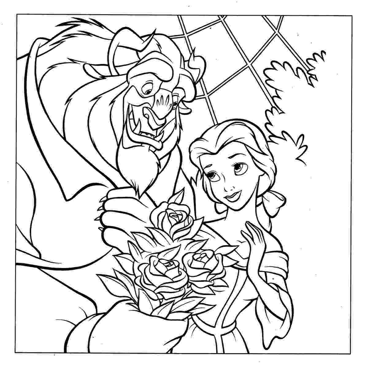 beauty and the beast coloring pages beauty and the beast belle coloring pages download kids beast and beauty pages coloring the