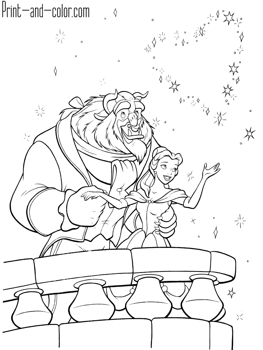 beauty and the beast coloring pages coloring pictures of disney characters beauty beast coloring the and pages
