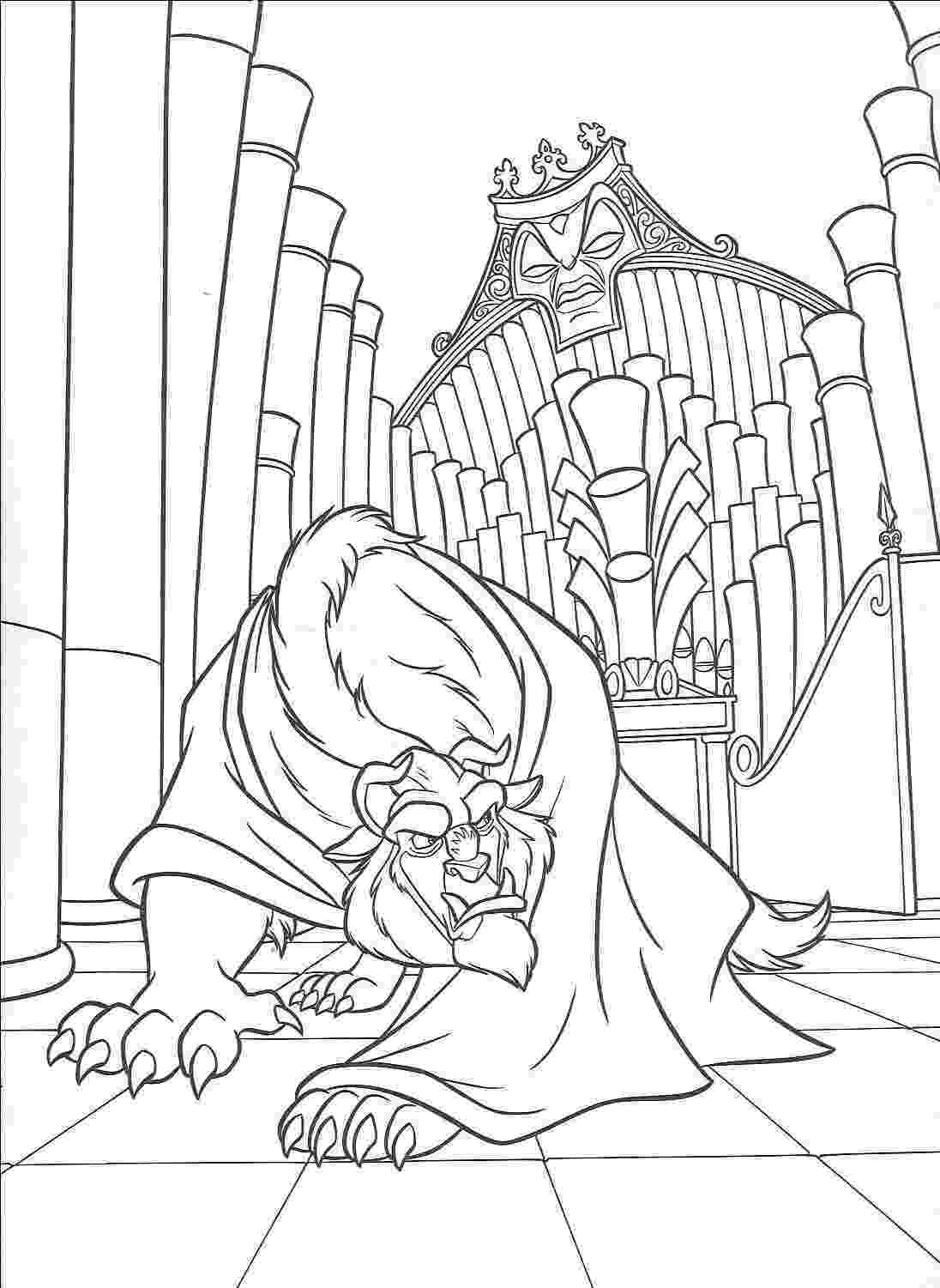 beauty and the beast coloring pages printable coloring area beautiful beauty and the beast beauty the coloring and beast pages