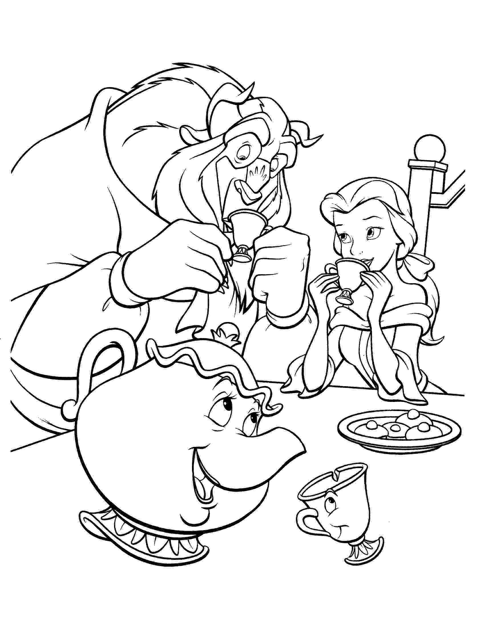 beauty and the beast coloring pages tale as old as time cute kawaii resources beauty coloring pages and beast the