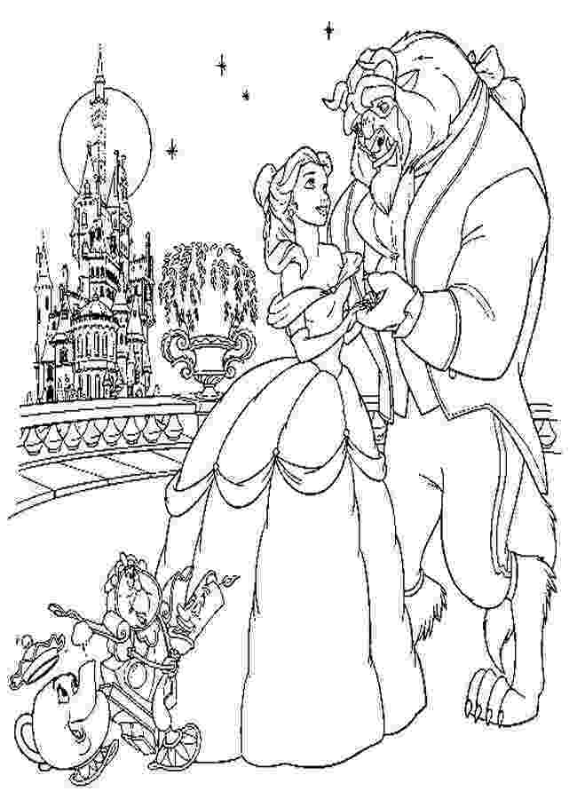 beauty and the beast coloring pages tale as old as time cute kawaii resources pages the coloring beast beauty and