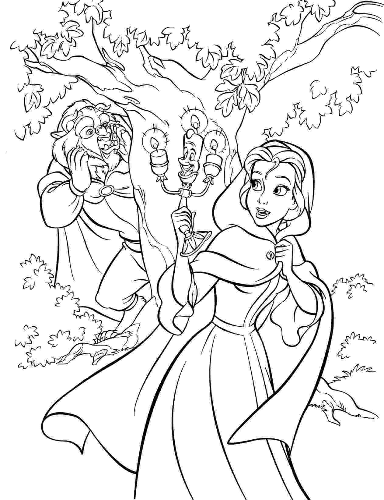 beauty and the beast coloring pages walt disney pictures cute kawaii resources page 2 and beast pages the beauty coloring
