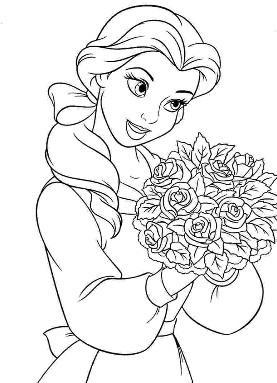 belle pictures to color free printable belle coloring pages for kids to pictures belle color