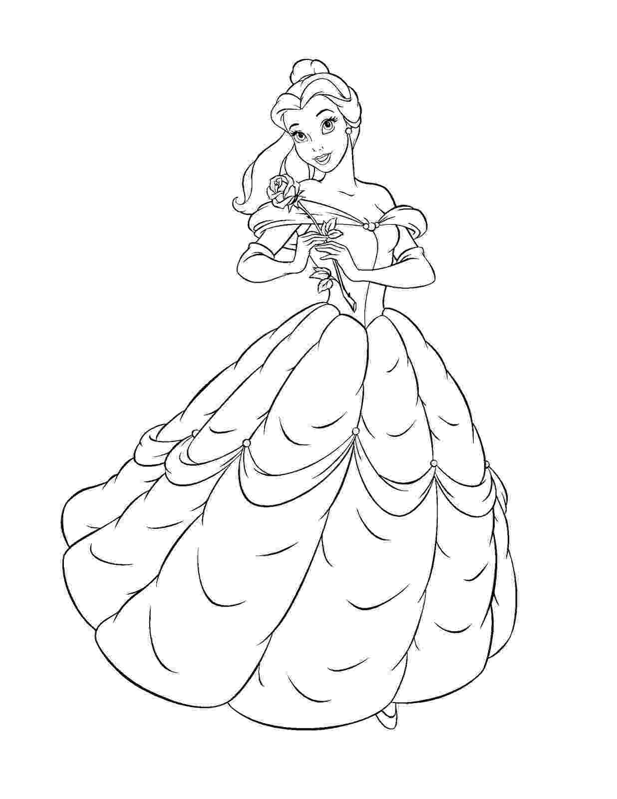 belle to color free printable belle coloring pages for kids belle color to 1 1