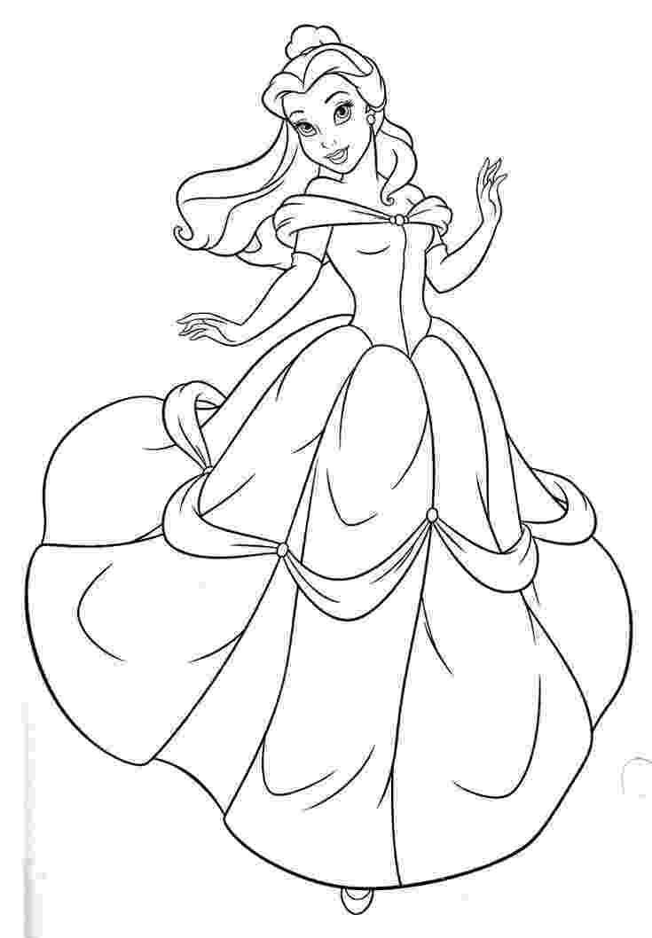 belle to color free printable belle coloring pages for kids color to belle 1 1