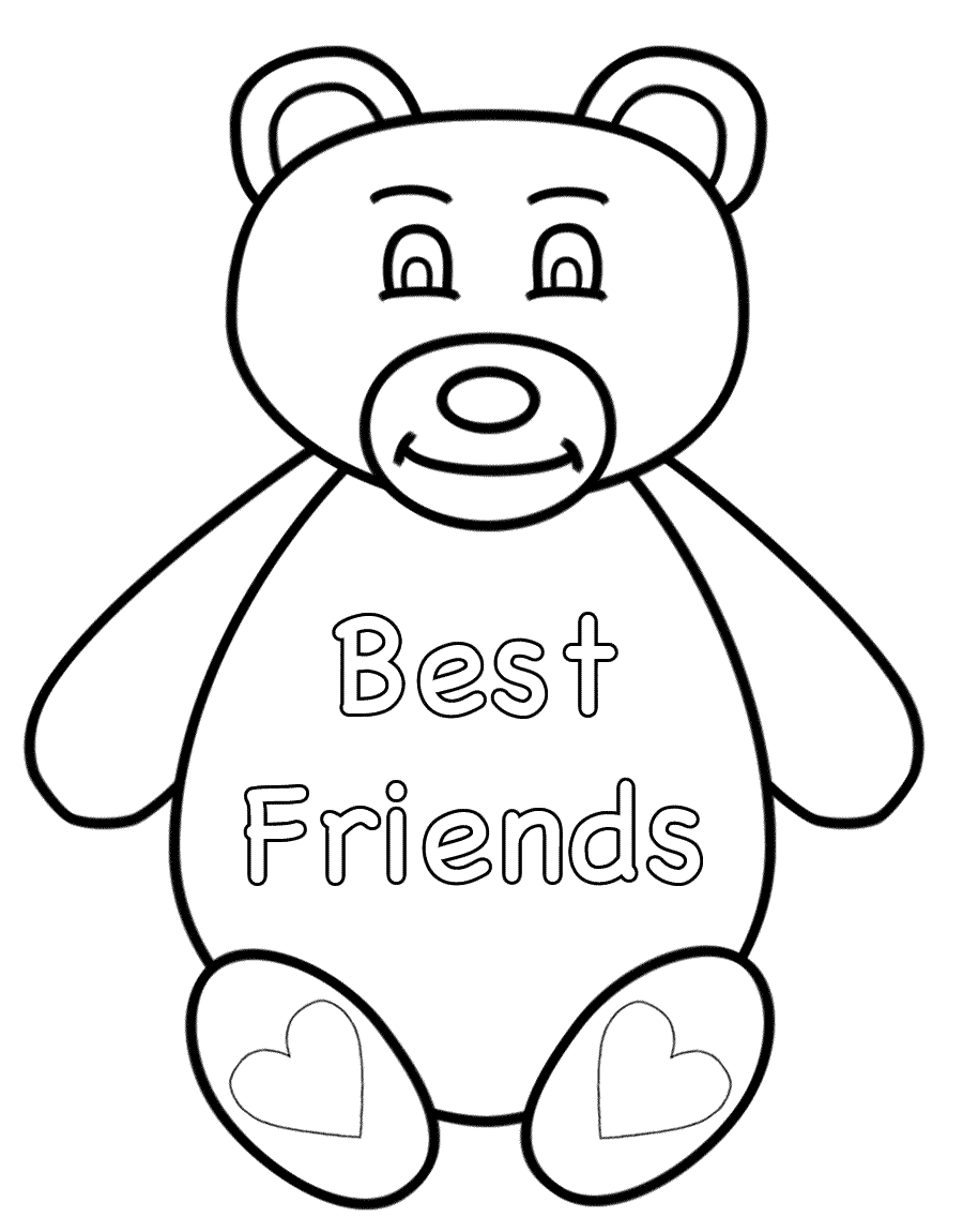 best friends coloring pages friends forever coloring page coloring home coloring best friends pages