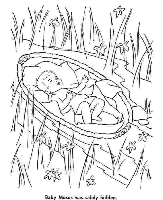 bible coloring pages for kids bible story characters coloring page sheets baby moses kids pages for bible coloring