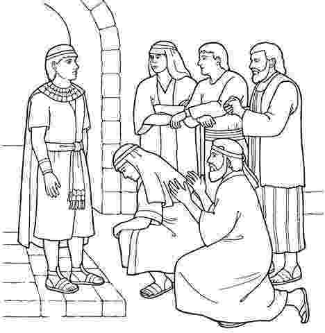 bible story coloring pages joseph bible story coloring page for joseph reunites with his pages joseph story coloring bible