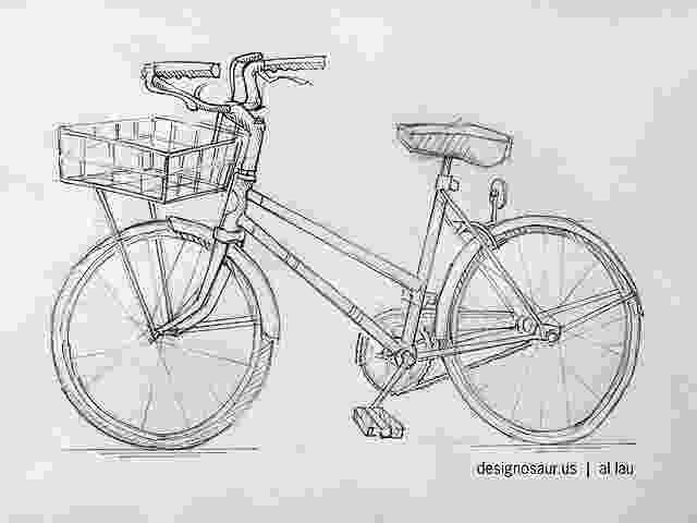 bicycle sketch cycle blogdesignosaurus bicycle sketch