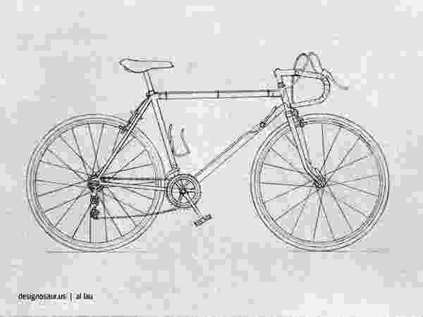 bicycle sketch cycle blogdesignosaurus bicycle sketch 1 1