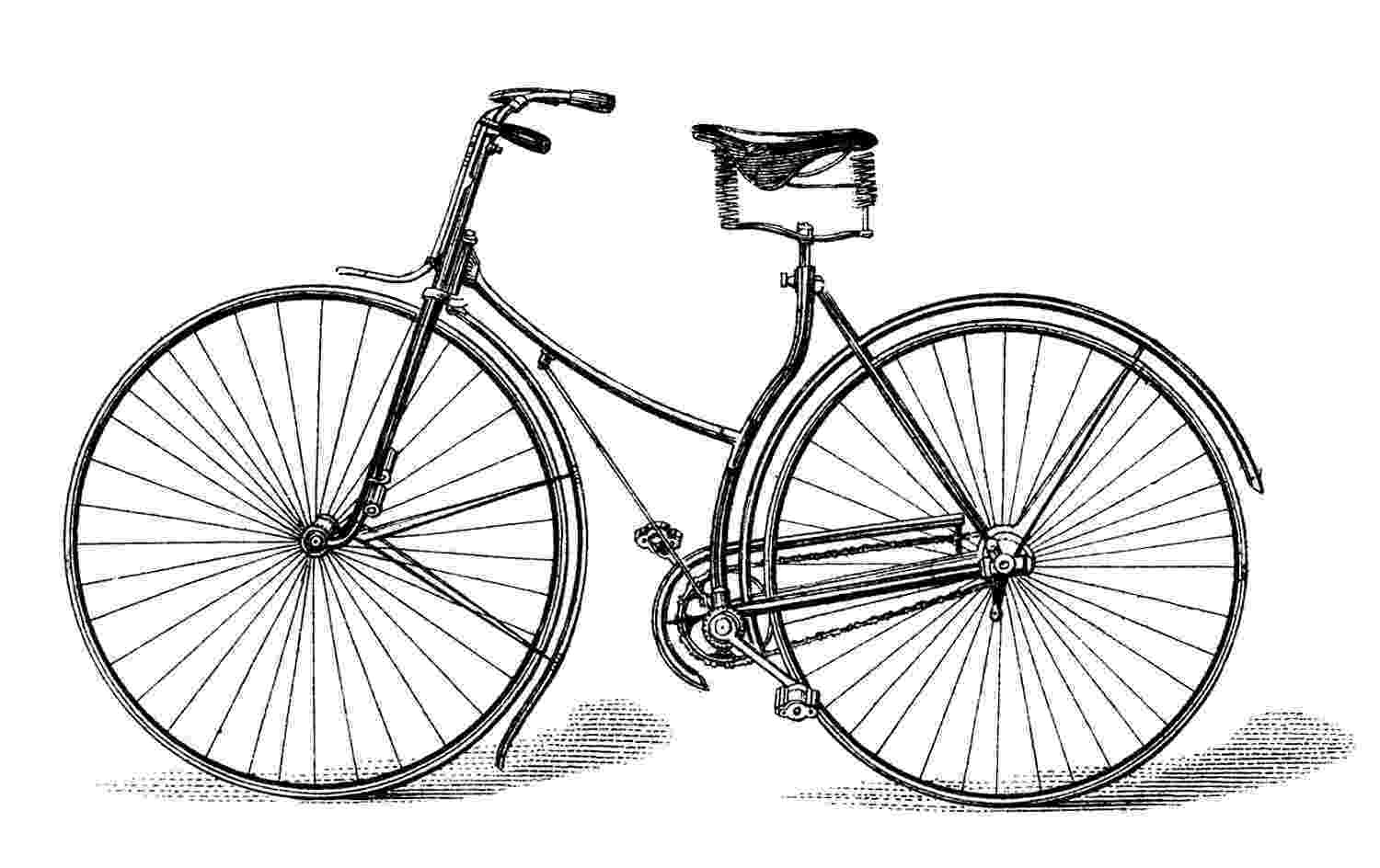 bicycle sketch free vector downloads vintage bicycle the graphics fairy sketch bicycle