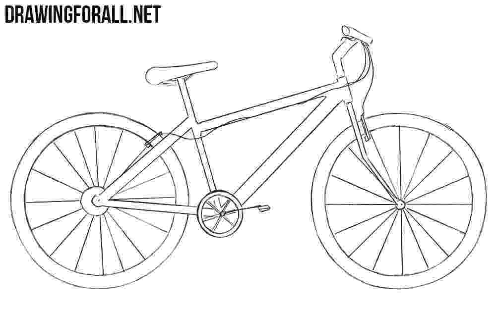 bicycle sketch how to draw a bike drawingforallnet sketch bicycle