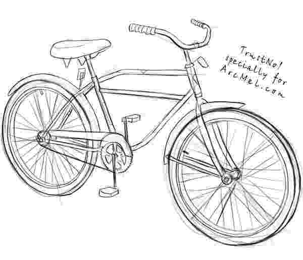 bicycle sketch how to draw a bike step by step arcmelcom sketch bicycle
