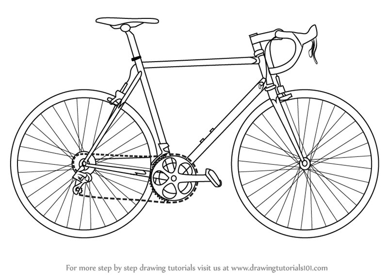 bicycle sketch learn how to draw a bike two wheelers step by step bicycle sketch