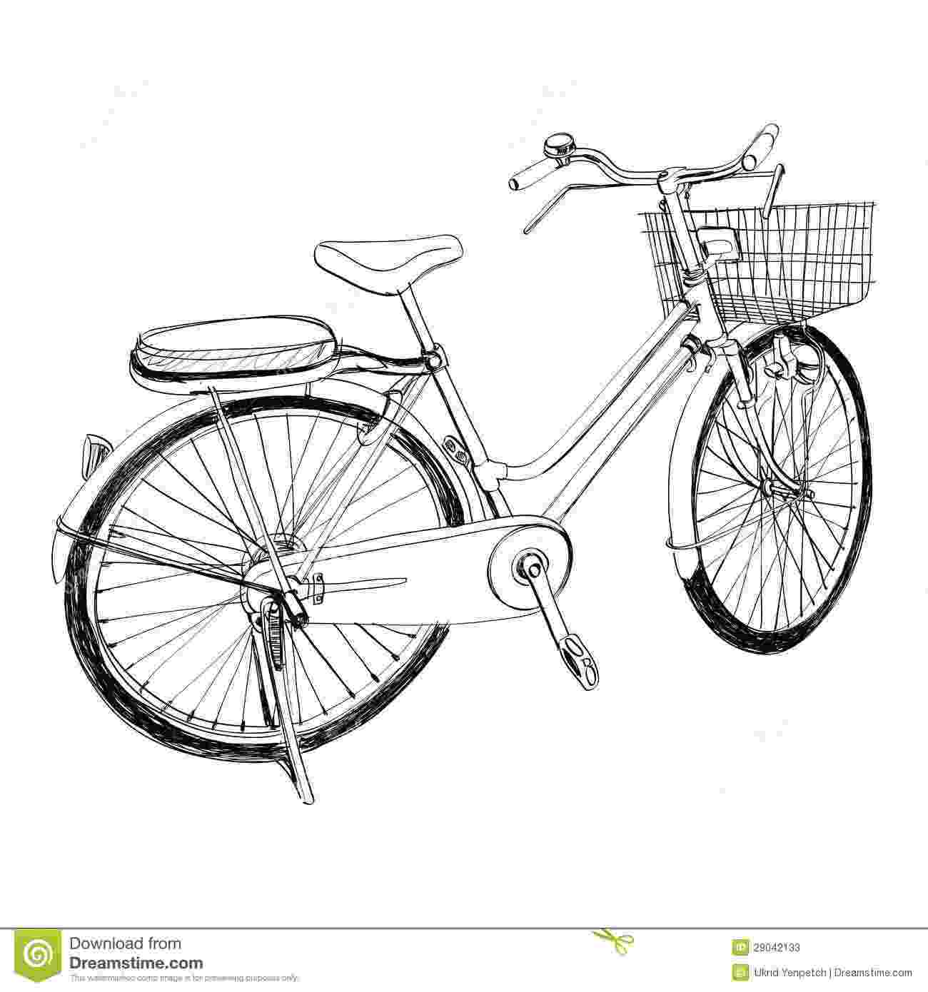bicycle sketch old bicycle sketch illustration hand drawn stock photos bicycle sketch