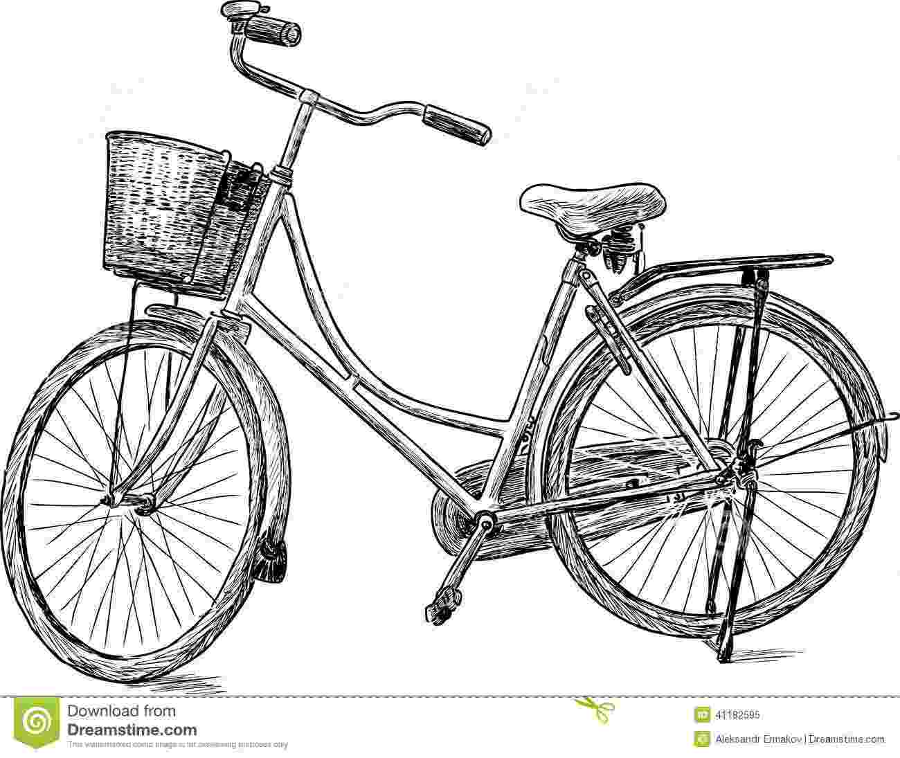 bicycle sketch old bicycle stock vector illustration of exercising sketch bicycle