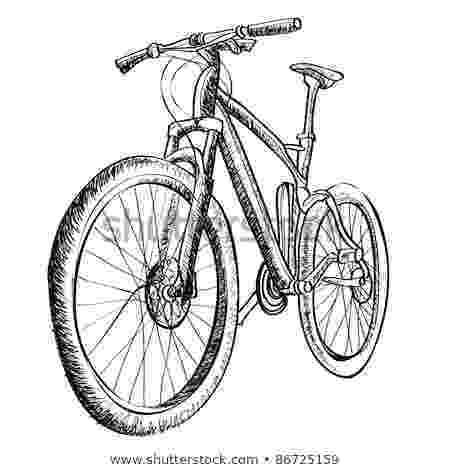 bicycle sketch pen and ink drawing stock images royalty free images bicycle sketch