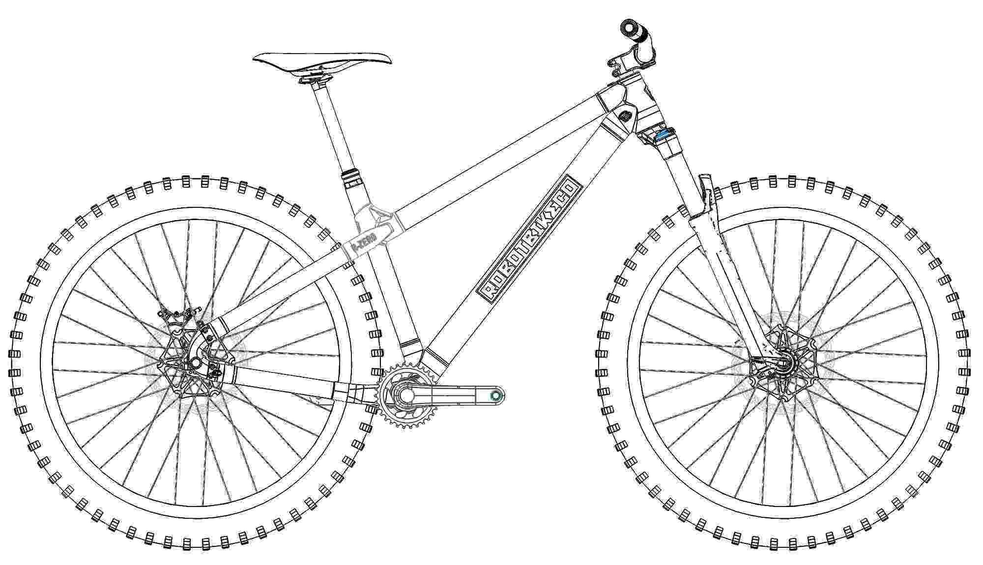 bicycle sketch robot bike prints r zero custom ti carbon trail hardtail bicycle sketch