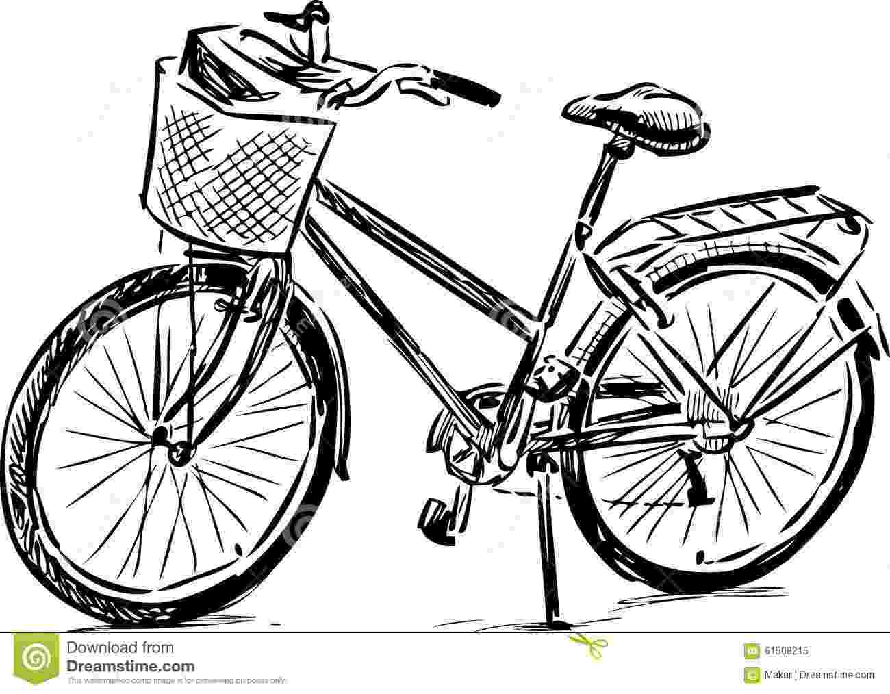 bicycle sketch sketch of a bike stock vector illustration of pedal sketch bicycle